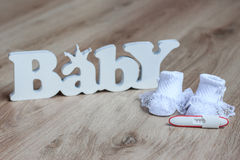 Prueba de embarazo Imagen de archivo libre de regalías