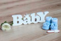 Prueba de embarazo Imágenes de archivo libres de regalías