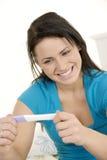 Prueba de embarazo Fotografía de archivo