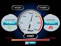 Prueba de Internet de la velocidad Foto de archivo libre de regalías