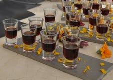 Prueba de la bebida del alcohol Imagen de archivo