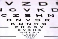 Prueba de la carta de ojo Fotografía de archivo