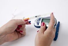 Prueba de la diabetes Imagen de archivo