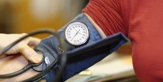 Prueba de la presión arterial Imagen de archivo libre de regalías