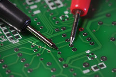 Prueba de la tarjeta de circuitos Fotografía de archivo