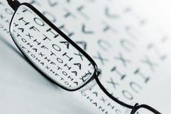 Prueba de la vista del ojo Imagen de archivo libre de regalías
