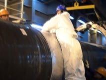 Prueba de las radiografías de la junta soldada con autógena Radiografía de la soldadura Preparación y montaje del gaseoducto suba metrajes