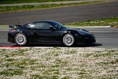 Prueba de Porsche Cayman GT4 en Monza Fotos de archivo