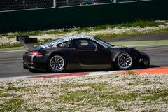 Prueba de Porsche 911 GT3-R en Monza Imágenes de archivo libres de regalías