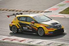 Prueba de Seat León TCR 2016 en Monza foto de archivo libre de regalías