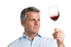 Prueba de vino fotos de archivo