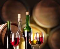Prueba de vino en la bodega. Imagen de archivo libre de regalías