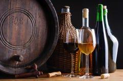 Prueba de vino en sótano Foto de archivo libre de regalías