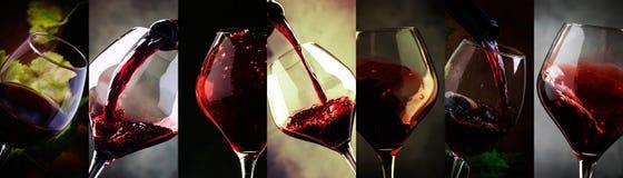 Prueba de vino Fondo de la bebida  foto de archivo
