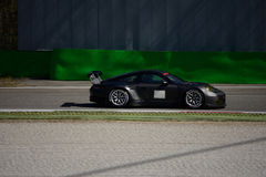 Prueba del GTE de Porsche 911 GT3 RSR en Monza Imagen de archivo libre de regalías