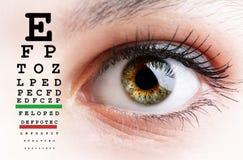 Prueba del ojo Imagenes de archivo