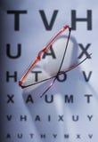Prueba del ojo Imágenes de archivo libres de regalías