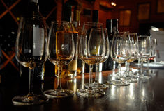 Prueba del vino portuario, Portugal Foto de archivo