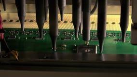 Prueba electrónica del tablero almacen de video