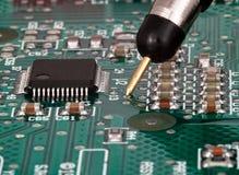 Prueba en tarjeta de circuitos impresos Foto de archivo