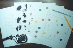 Prueba neurofisiológica para la demencia fotografía de archivo libre de regalías