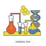 Prueba química, experimentos que conducen e investigación del equipo Imagen de archivo