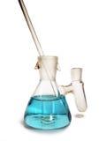Prueba-tubo azul Imagen de archivo