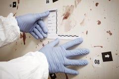Pruebas de las manchas de sangre fotografía de archivo libre de regalías
