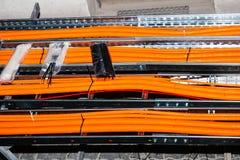 Pruebe al router del cable Foto de archivo libre de regalías