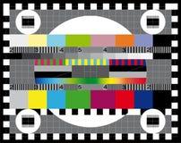 Pruebe la pantalla de la TV Foto de archivo libre de regalías