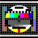 Pruebe la pantalla de la TV Imagen de archivo libre de regalías