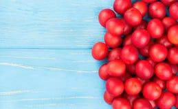 Prugna di ciliegia rossa Fotografie Stock Libere da Diritti