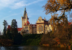 Pruhonice castle at autumn Stock Photo