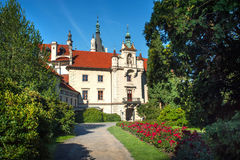 Pruhonice castle front side view Royalty Free Stock Image
