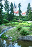 Castle Pruhonice or Pruhonicky zamek summer view (Prague, Czech). Pruhonice Castle park summer view in Prague, Czech Republic. Was established in the 12th Royalty Free Stock Images