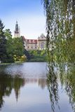 Pruhonice castle XII- XVI century near Prague.  Royalty Free Stock Photo