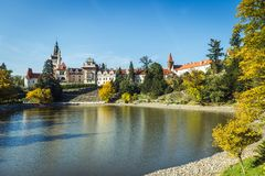 Pruhonice Chateau and Park in Czech Republic stock photos
