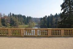 Pruhonice kasztelu park, republika czech zdjęcie royalty free