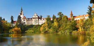 Pruhonice-Park und Schloss, Prag stockfoto