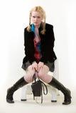 Pruilende tiener Royalty-vrije Stock Foto