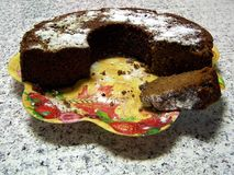 Pruim-cake royalty-vrije stock afbeeldingen
