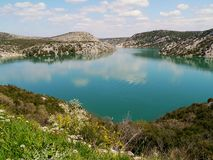 The Prukljan lake in Croatia Royalty Free Stock Photo