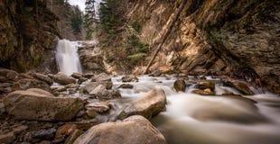 Pruncea vattenfall på den Casoca floden, Buzau län Rumänien royaltyfria bilder