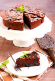 Prune and chocolate torte Stock Photo