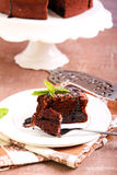 Prune and chocolate torte Stock Photography