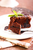 Prune and chocolate torte Royalty Free Stock Photography