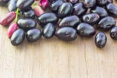 Prune de Jambolan, prune de Java (cumini de syzygium) Image stock