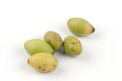 Prune de porc, Mombin jaune, prune espagnole, Caja Mirim, Java Plum (mombin L. de Spondias) Photos stock