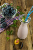 Prune drink Stock Photo