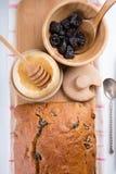 Prune honey cake stock images